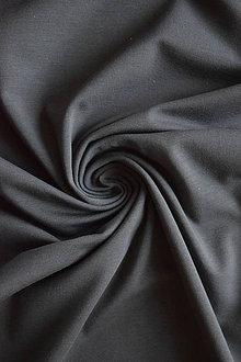 Textil - Bio elastický bavlněný úplet GOTS – šedý - 8133858_