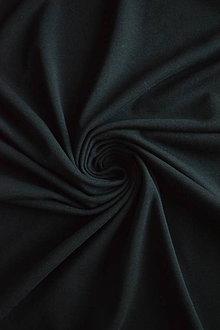 Textil - Bio elastický bavlněný úplet GOTS – černý - 8133904_