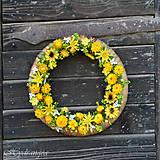 Dekorácie - Venček na dvere zo sušených kvetov - 8134293_