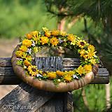 Dekorácie - Venček na dvere zo sušených kvetov - 8134321_