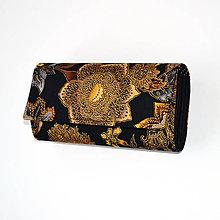 Peňaženky - peněženka Gold and Black 19cm - 8134064_