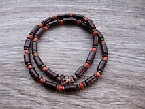 Šperky - Pánsky náhrdelník okolo krku drevený - 8134027_
