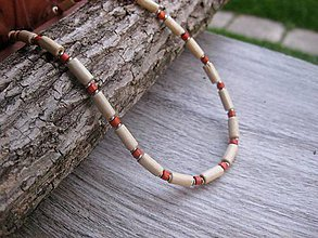 Šperky - Pánsky náhrdelník okolo krku drevený (drevený svetlo tehlový č.905) - 8134023_
