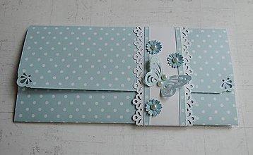 Papiernictvo - Blue - obálka na peniaze - 8134170_