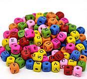 - Drevené korálky abeceda 10x9mm (balíček 100ks) - 8132192_