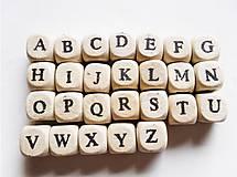 - Drevené korálky abeceda natur (balíček 100ks) - 8132195_