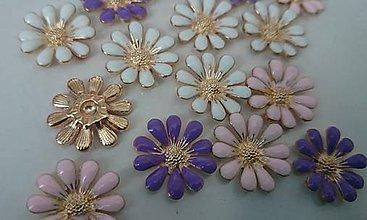 Galantéria - Ozdoba kvetinka / kabošónik (balíček 3ks) - 8131982_