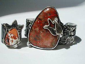 Sady šperkov - Červený tulipán- jaspis brekcia,tiffany - 8137249_