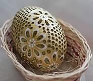 Dekorácie - zlaté emu husto vŕtané - 8135107_