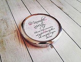 Darčeky pre svadobčanov - Svadobné zrkadielko - 8137118_