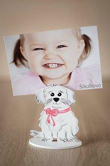 Detské doplnky - Psík na fotografiu - ružový - 8135190_