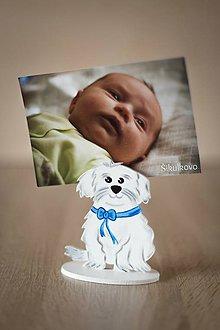 Detské doplnky - Psík na fotografiu - modrý - 8135213_