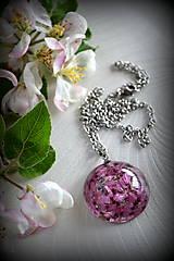 - Náhrdelník Vresový kvet (2172 B CHO) - 8136014_