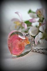 Náhrdelník Srdce s ružou (2173 A CHO)
