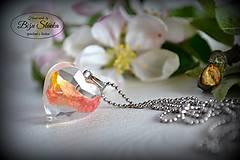 - Náhrdelník Ruža v srdci (2173 B CHO) - 8136090_