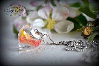 Náhrdelníky - Náhrdelník Ruža v srdci (2173 B CHO) - 8136090_