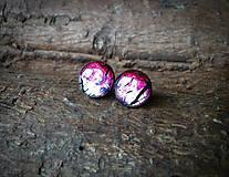 Náušnice - Ružové kruhy 12 mm - 8136838_
