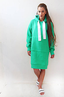 Šaty - OVERSIZE GREEN - 8136388_