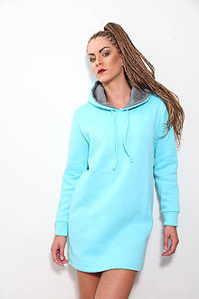 Šaty - MIKINOŠATY turquoise - 8136647_