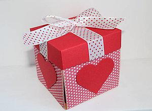 Krabičky - Na fotky - srdiečková - 8134907_