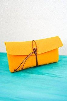 Taštičky - Urban... My Purse... yellow... felt - 8136721_