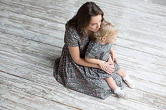 """Šaty - Oblečenie pre mamu a dcéru """"Lupienky farby flamingo"""" - 8135440_"""