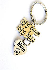 Kľúčenky - mama je moj hrdina - klucenka - 8135094_