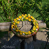 Dekorácie - Venček na dvere zo sušených kvetov - 8136052_