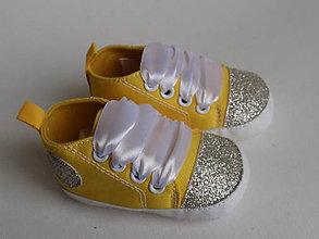 Topánočky - Capačky zdobené glitrami - 8135430_