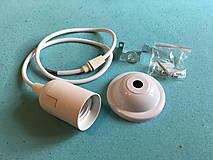 Svietidlá a sviečky - Bakelitové závesné svietidlo E27, 50cm, Biela farba - 8136921_