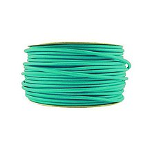 Komponenty - Kábel dvojžilový v podobe textilnej šnúry v tyrkysovej farbe, 2 x 0.75mm, 1 meter - 8137922_