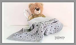 Textil - Deka pre bábätko sivá - 8137159_