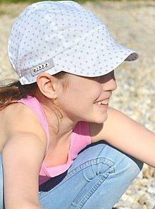 Detské čiapky - Letná šiltovka s menom Fine & dots - 8134771_