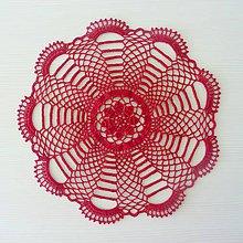 Úžitkový textil - Okrúhla bordová - 8137343_