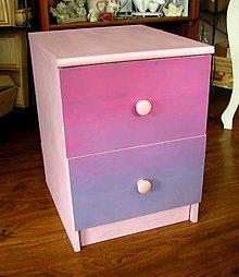 Nábytok - Dievčenský nočný stolík stôl stolček - 8137193_