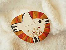 Odznaky/Brošne - Brošňa kožená, vtáča - 8134898_