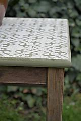 Nábytok - Taký vidiecky stolík/stolička - 8135364_