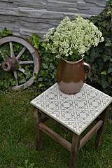 Nábytok - Taký vidiecky stolík/stolička - 8135366_