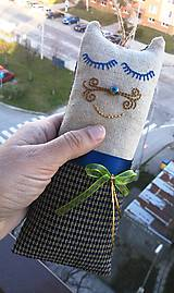"""Textil - """"malá cica parádnica Gustava Klimta"""" - 8138433_"""