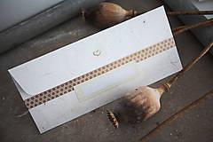 Papiernictvo - Obálka na peniaze - zlatá - 8140348_