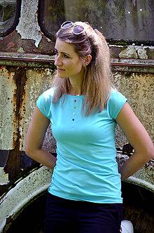 Tričká - Tričko s knoflíčky - vyber si svou barvu! - 8141824_