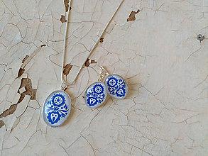 Sady šperkov - Na skle maľované • sada - 8140429_