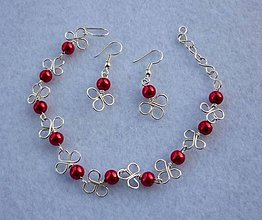 Sady šperkov - Trojlístkové náušnice s náramkom - 8141259_