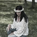 """Ozdoby do vlasov - Kvetinový venček do vlasov """"Nevěstin závoj"""" tenší - 8138167_"""