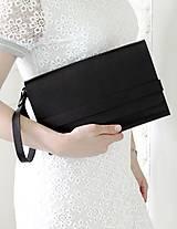 Kabelky - Listová kabelka CLUTCH STRIPE BLACK - 8139897_