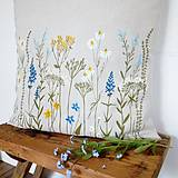 Úžitkový textil - Vankúš - zakvitnutá lúka - 8138390_