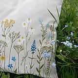 Úžitkový textil - Vankúš - zakvitnutá lúka - 8138391_