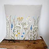 Úžitkový textil - Vankúš - zakvitnutá lúka - 8138411_