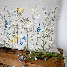Úžitkový textil - Vankúš - zakvitnutá lúka - 8138410_