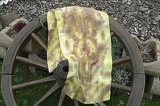 Šály - hnedo žltý šál - 8139740_